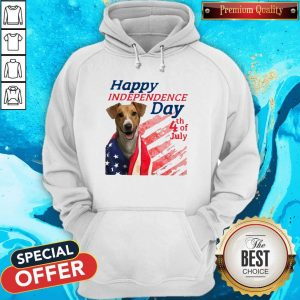 Jack Russell Terrier Happy Independence Day 4th Of July American Flag Hoodiea