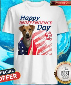 Jack Russell Terrier Happy Independence Day 4th Of July American Flag Shirt