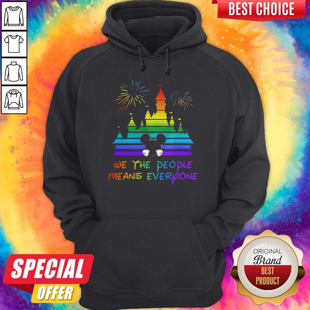 LGBT Disneyland We The People Means Everyone  Hoodiea