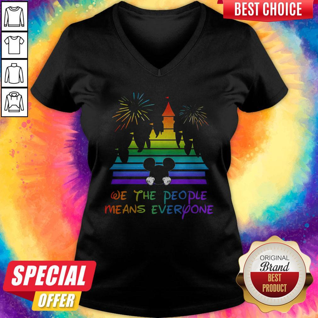 LGBT Disneyland We The People Means Everyone   V- neck