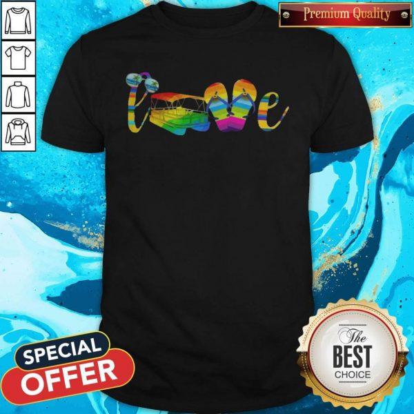LGBT Love Sign Language Camping ShirtLGBT Love Sign Language Camping Shirt