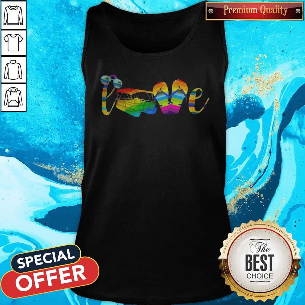 LGBT Love Sign Language Camping ShirtLGBT Love Sign Language Camping Tank Top