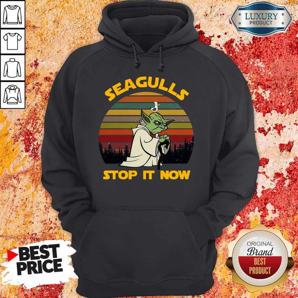 Master Yoda Seagulls Stop It Now Vintage    Hoodie