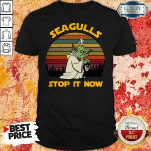 Master Yoda Seagulls Stop It Now Vintage Shirt