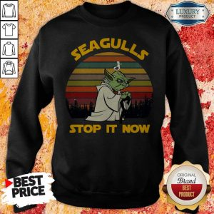 Master Yoda Seagulls Stop It Now Vintage Sweatshirt