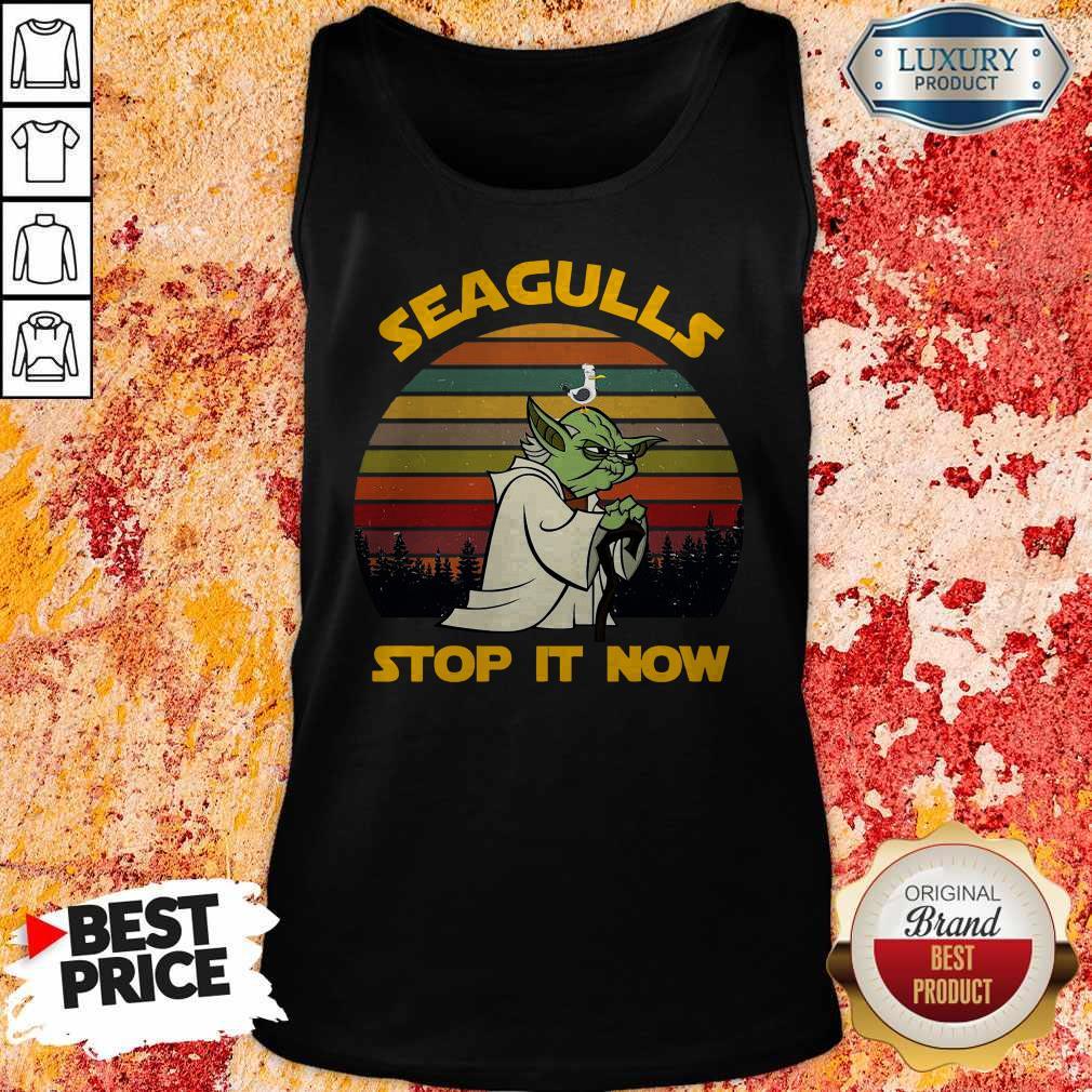Master Yoda Seagulls Stop It Now Vintage  Tank Top