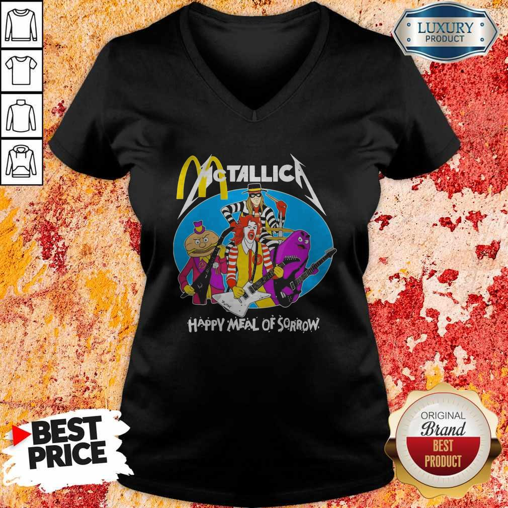 McDonald's Metallica Happy Meal Of Sorrow  V-neck