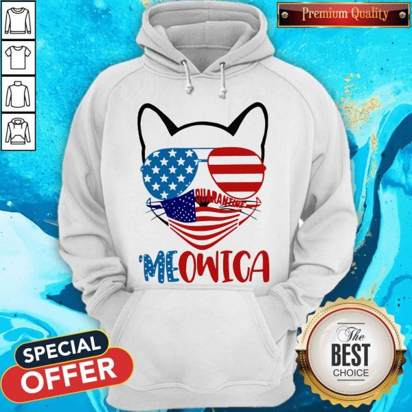 Meowica 4th Of July Merica Quarantine Hoodieaa