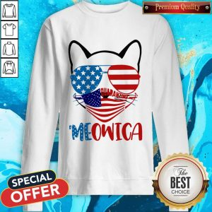 Meowica 4th Of July Merica Quarantine Sweatshirt