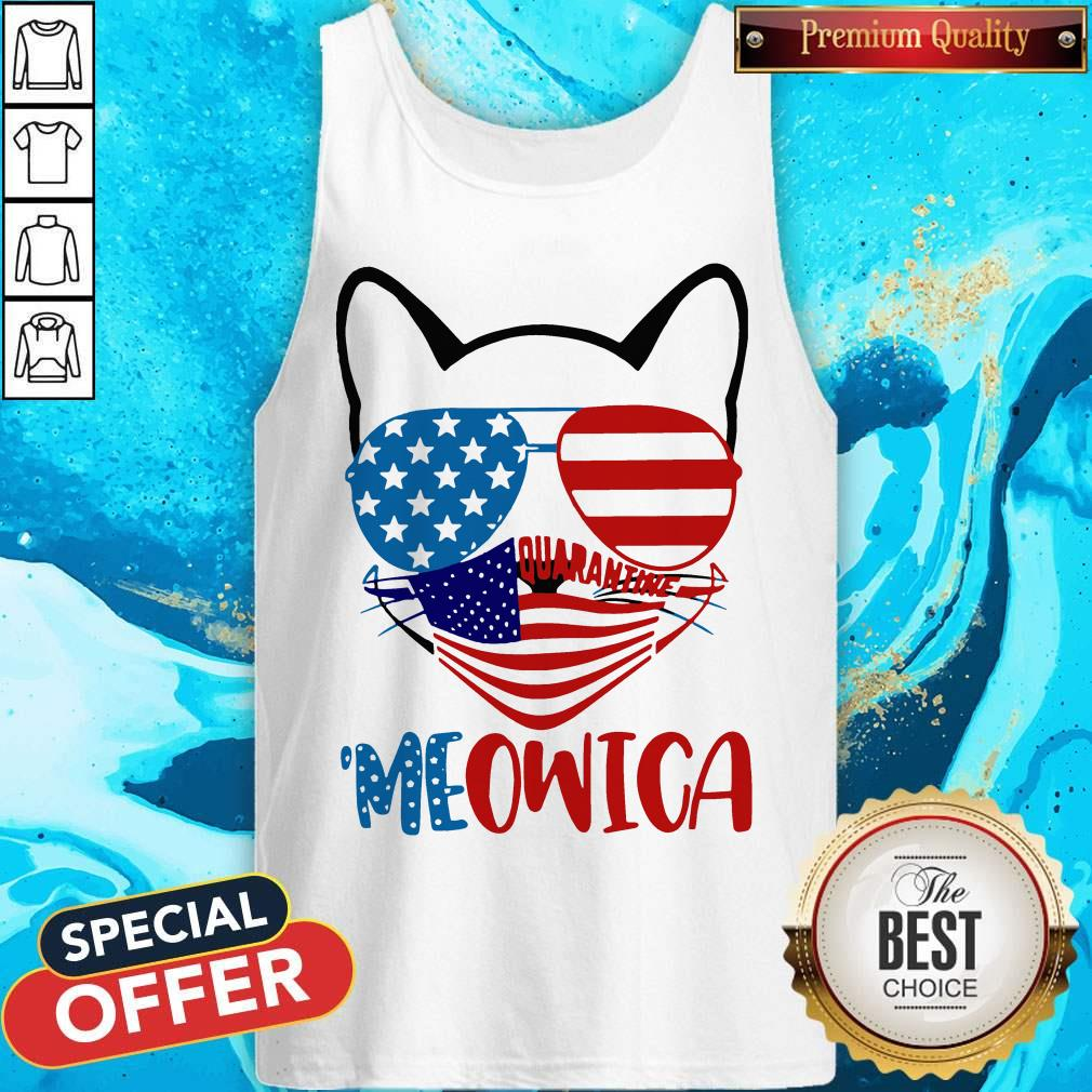Meowica 4th Of July Merica Quarantine Tank Top