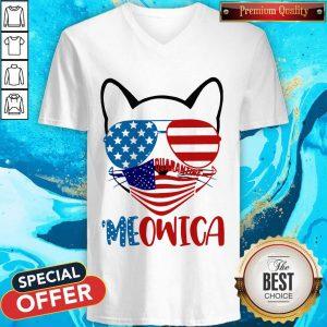 Meowica 4th Of July Merica Quarantine V- neck