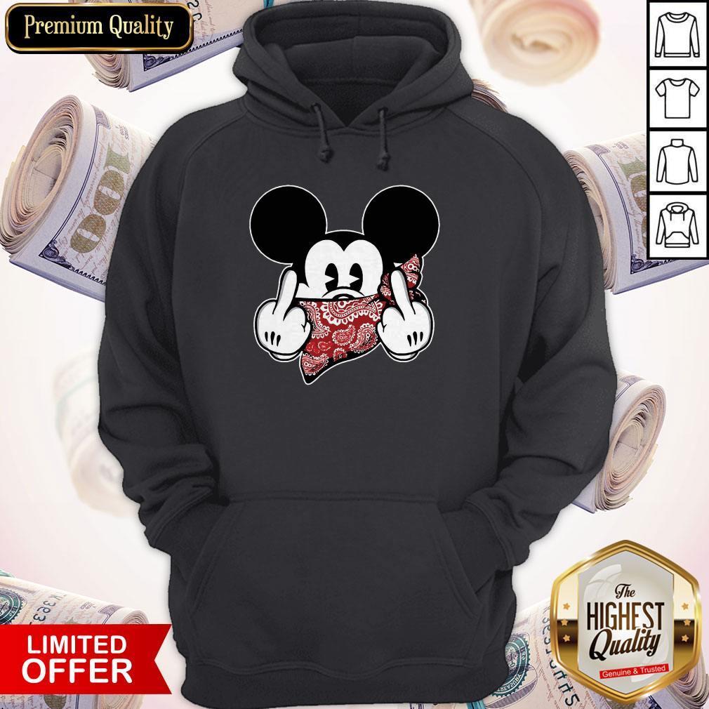 Mickey Mouse Bandana Fuck Trump Hoodiea
