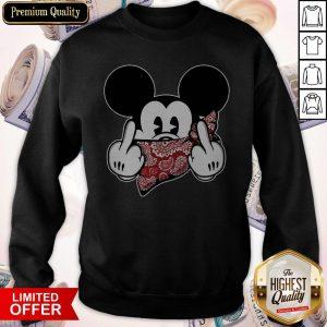 Mickey Mouse Bandana Fuck Trump Sweatshirt