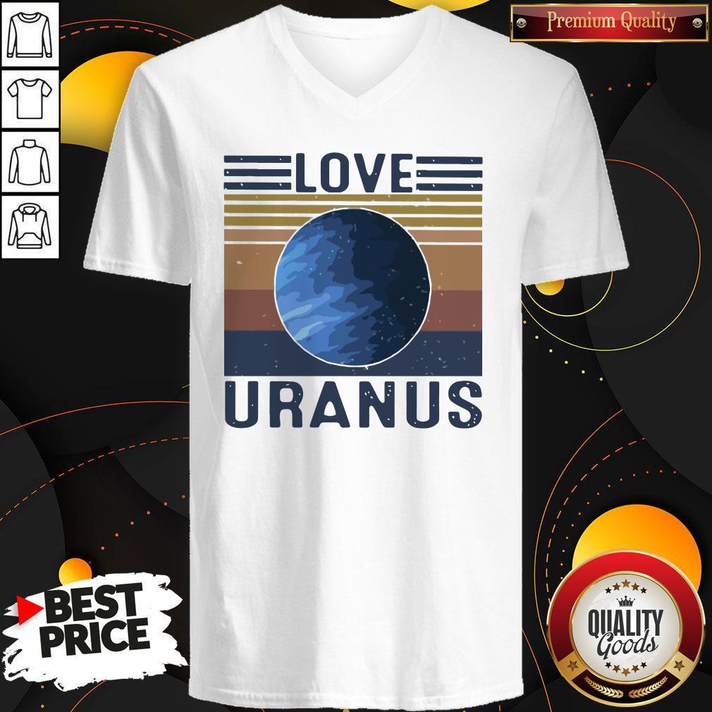Nice I Love Uranus vintage V- neck