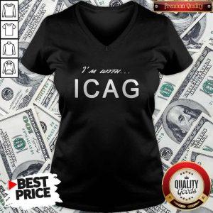 Nice I'm With ICAG V- neck