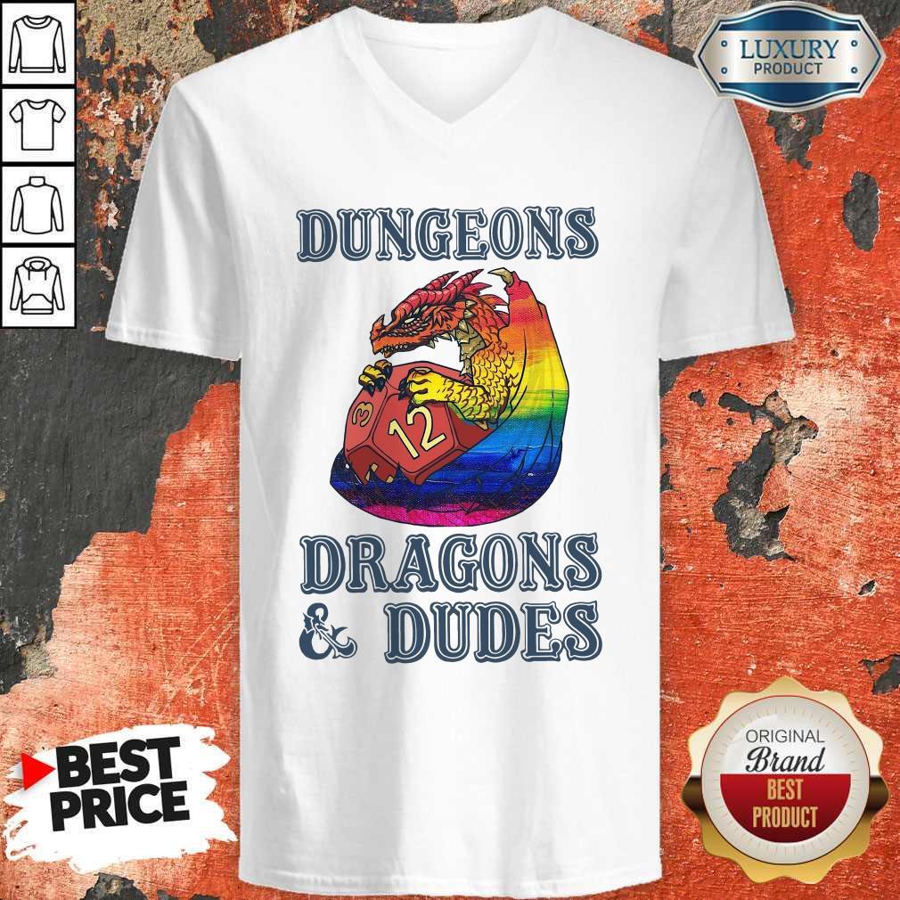 Official LGBT Dungeons Dragons Dudes   V- neck