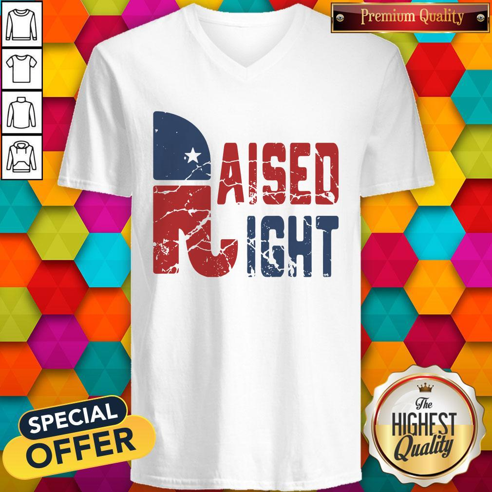 Official Original Raised Right   V- neck