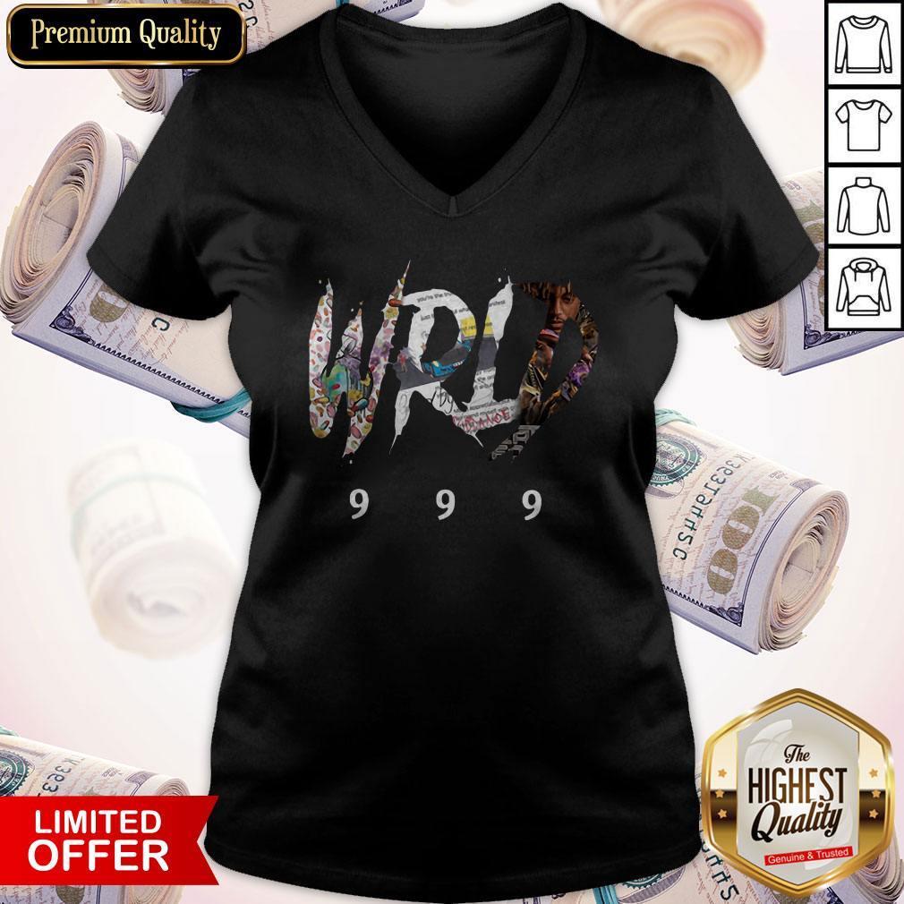 Top Official-Rip-Juice-Wrld-999- V- neck