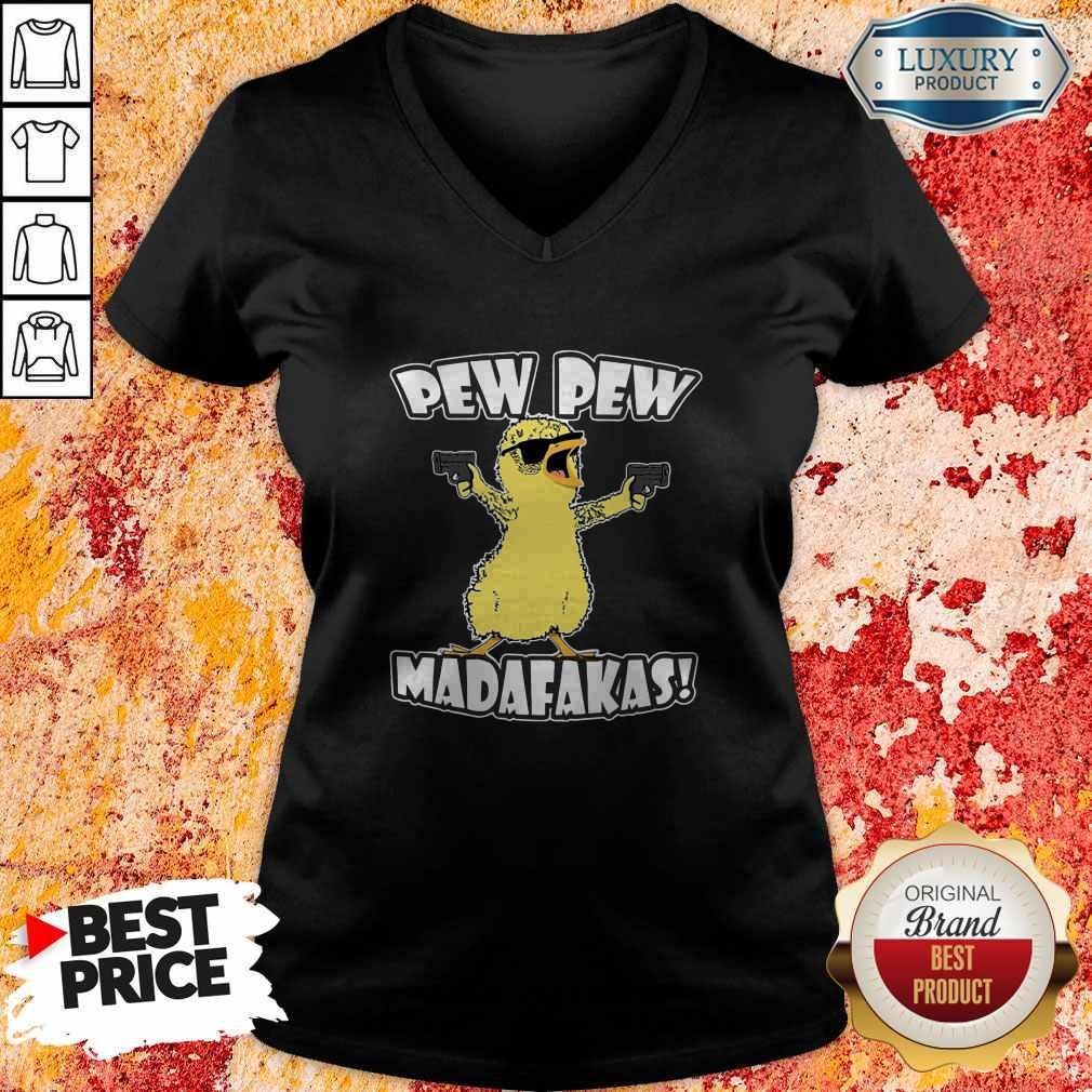 Pew Pew Madafakas Crazy Chick  V- neck