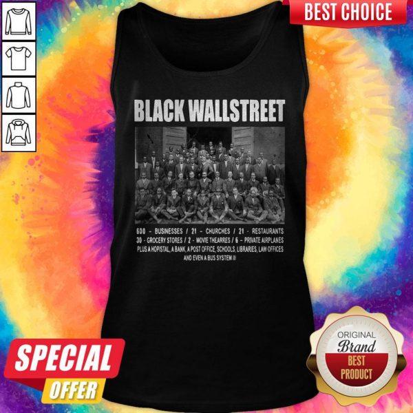 Premium Black Wall Street Tank Top