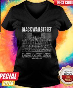 Premium Black Wall Street V- neck