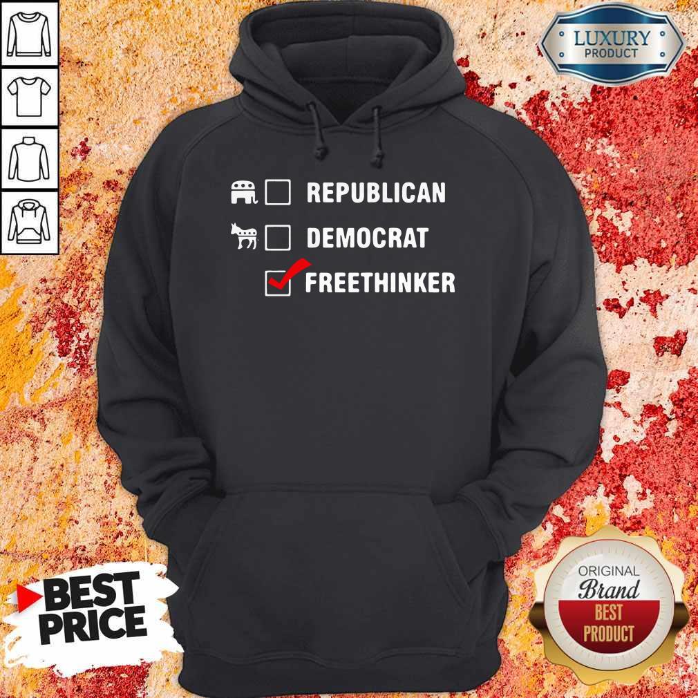 Premium Republican Democrat Free Thinker Hoodie