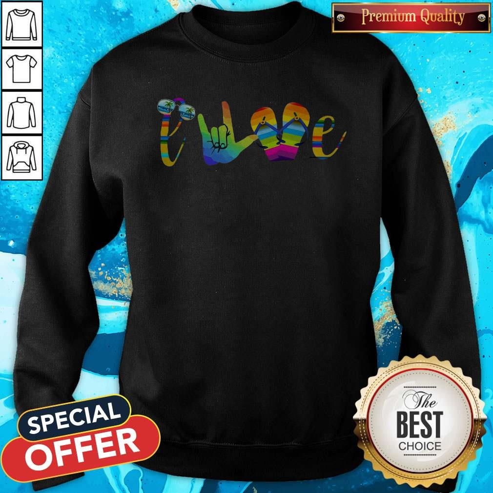 Pretty Love Sign Language Sweatshirt