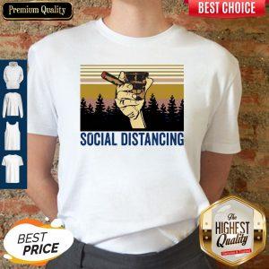 Cigar Social Distancing Vintage Shirt