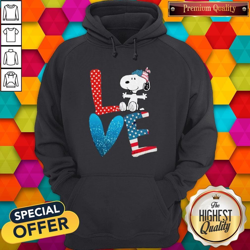 Snoopy Love American 4th Of July Hoodiea