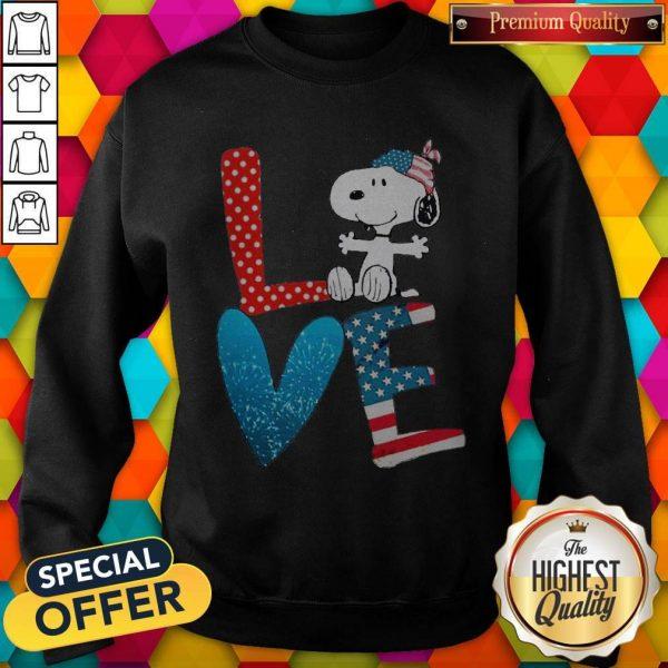 Snoopy Love American 4th Of July Sweatshirt