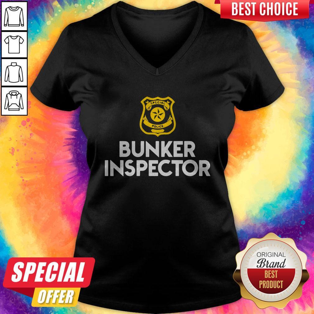 Special police bunker inspector V- neck