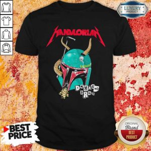 Star Wars Metallica Mandalorian Damaged Armor Shirt