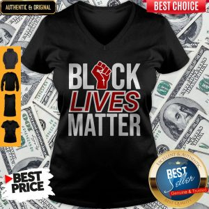 Strong Hand Black Lives Matter V-neck