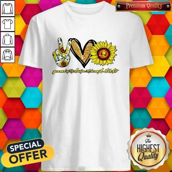 Sunflower Peace Love Nails Tech Shirt
