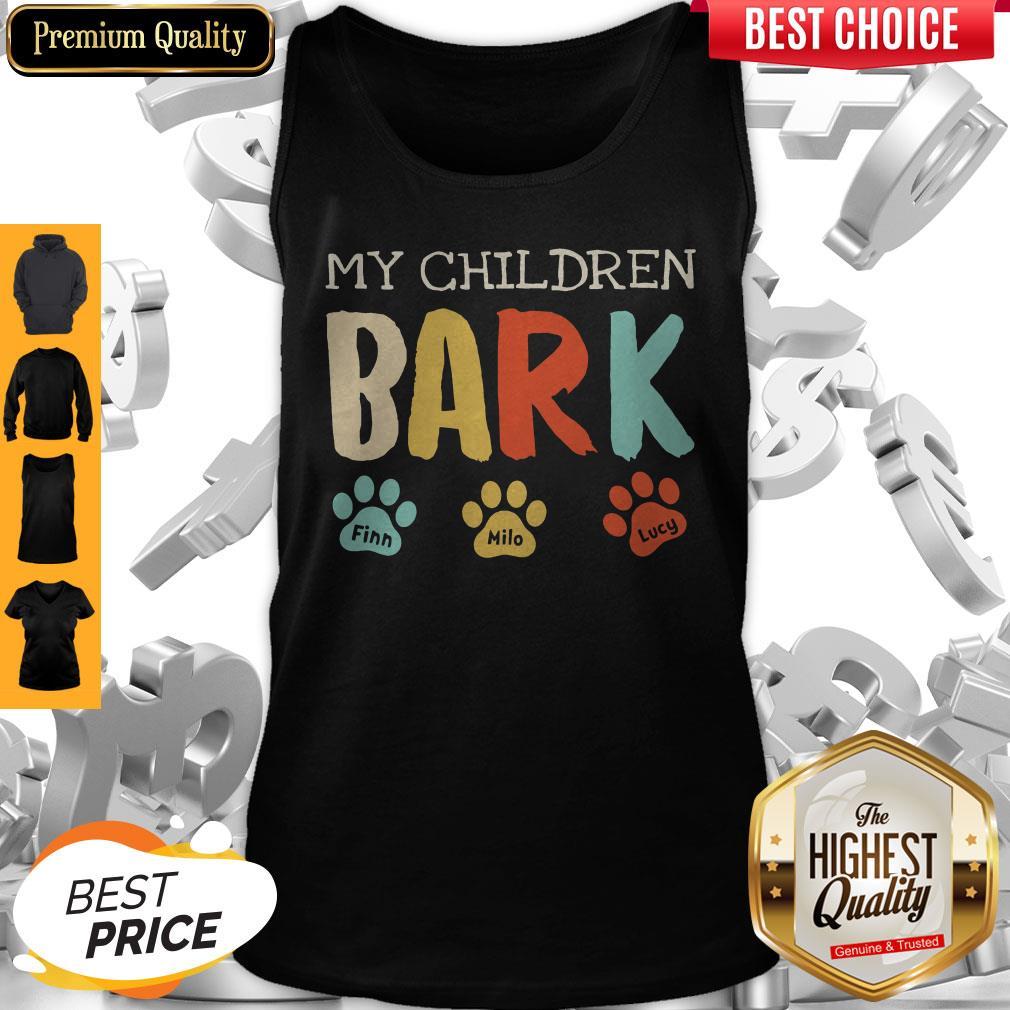 My Children Bark Finn Milo Lucy Tank Top