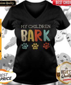 My Children Bark Finn Milo Lucy V- neck
