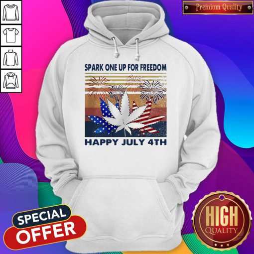 Weed Fireworks Spark One Up For Freedom Happy July 4th Independence Day Hoodiea