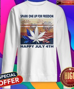 Weed Fireworks Spark One Up For Freedom Happy July 4th Independence Day Sweatshirt