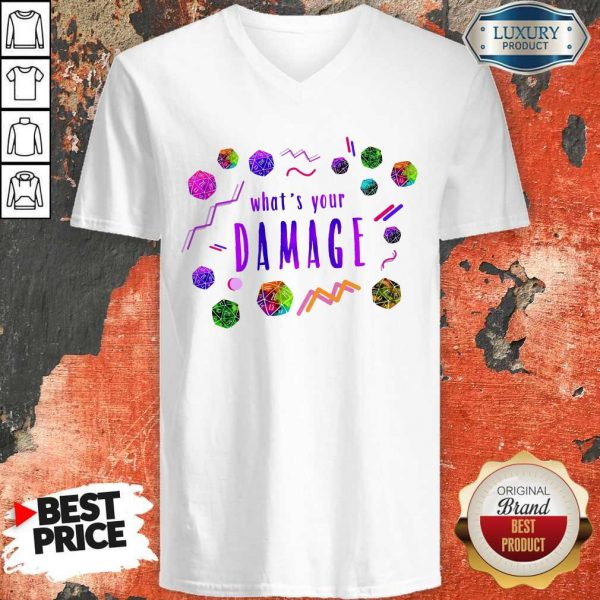 What's Your Damage V- neck