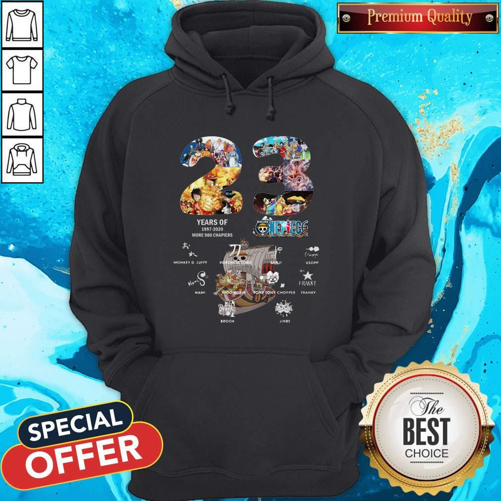 23 Years Of 1997 2020 More 980 Chapter One Piece Signatures Hoodie