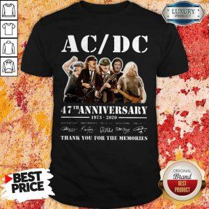 ACDC Band 47th Anniversary 1973-2020 Signatures Shirt