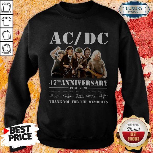 ACDC Band 47th Anniversary 1973-2020 Signatures Sweatshirt