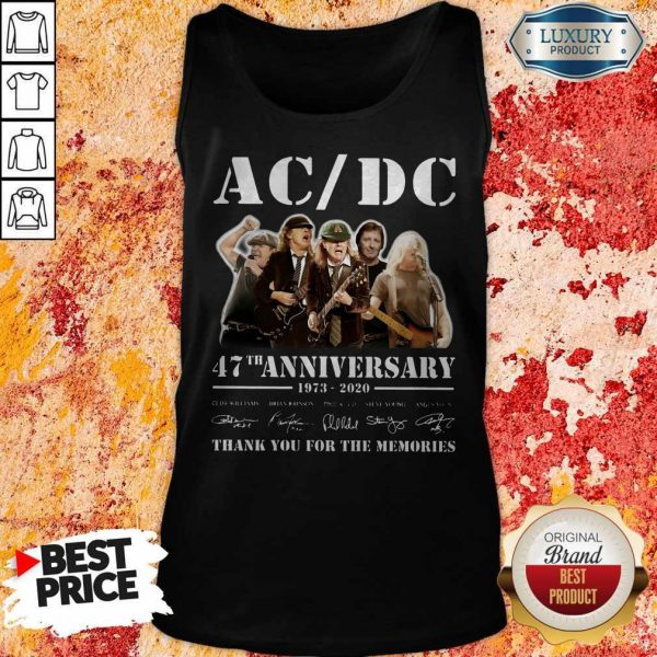 ACDC Band 47th Anniversary 1973-2020 Signatures Tank Top
