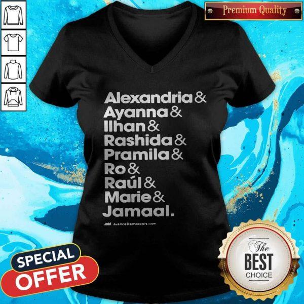 Alexandria And Ayanna & Iihan & Rashida & Pramila & Ro & Raul & Marie & Jamaal V- neck