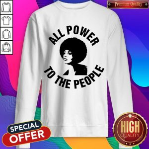 All Power To the People Angela Davis Sweatshirt