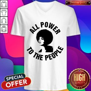 All Power To the People Angela Davis V- neck