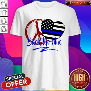 Back The Blue America Love Heart Independence Day Shirt