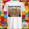 Beer Drink Coffee I Hate People Vintage Shirt