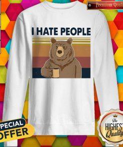 Beer Drink Coffee I Hate People Vintage Sweatshirt