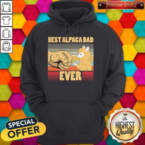 Best Alpaca Dad Ever Vintage Retro Hoodie